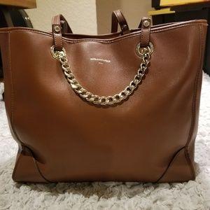 Karl Lagerfeld Brown Tote Shoulder Bag